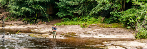 Fotografie, Tablou Fly fishing