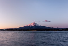 Mount Fuji At Sunrise.