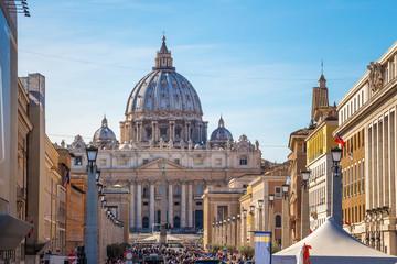 Fototapeta na wymiar Ciudad del Vaticano. Basilica de San Pedro