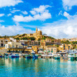 canvas print picture - Mgarr harbour view, Gozo, Malta
