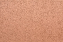 Pink Painted Stucco Wall. Back...