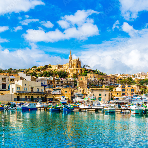 Mgarr harbour view, Gozo, Malta