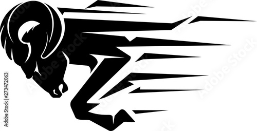 Tablou Canvas Ram Bust Speed Abstract Vector