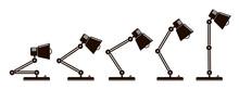 Illustration Of Table Office Desktop Lighting Lamp Isolated