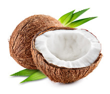 Coco. Coconut With Half And Le...