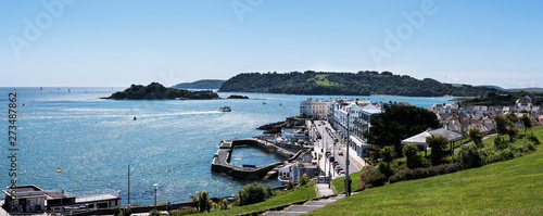 Obraz Panorama of Hoe Waterfronts - Plymouth, Devon, England - fototapety do salonu