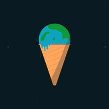 Earth Ice Cream Art
