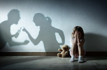 Little Girl Crying With Shadow...