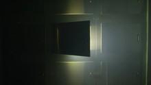 Morgue Door Opening Slowly With Dramatic Light Body Locker