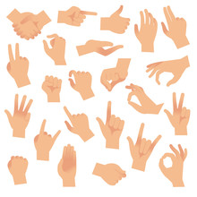 Gesturing Hands. Hand With Cou...
