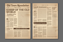 Vintage Newspaper. News Articl...