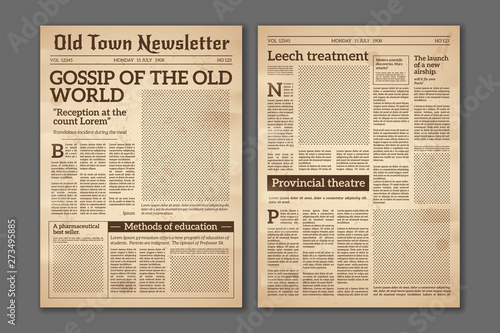 Photo Vintage newspaper