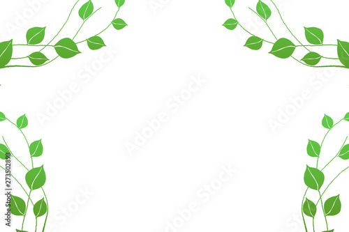 green leaves nature frame border with copy space isolated on white background buy this stock illustration and explore similar illustrations at adobe stock adobe stock green leaves nature frame border with