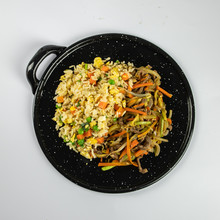 Fried Rice And Chop Suey Plate...