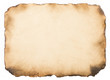 canvas print picture - old paper vintage aged or texture on white background