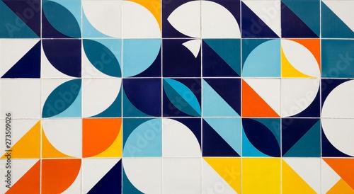 Mid century modern pattern ceramic tiles in Rio de Janeiro, Brazil - 273509026