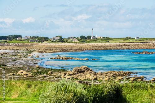 Foto Rocky ocean coastline in Plouguerneau, Brittany, France