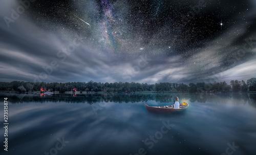 Photo sur Aluminium Bleu nuit Sunset