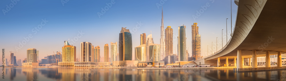 Fototapety, obrazy: Panoramic view of Dubai Business bay, UAE