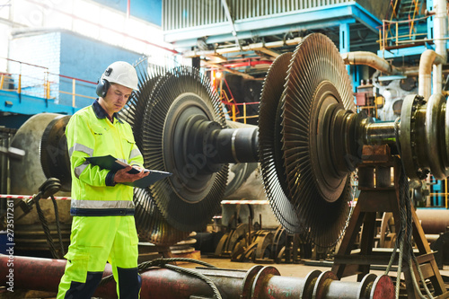 Fotografie, Obraz  Power plant maintenance. Industial worker