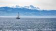 canvas print picture - Ein Segelschiff auf dem Bodensee in Deutschland