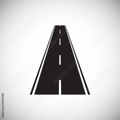 Fototapety, obrazy: Road icon on background for graphic and web design. Simple illustration. Internet concept symbol for website button or mobile app.