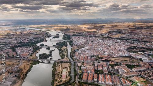 Fotografie, Obraz Panoramic aerial view of Merida cityscape, Spain