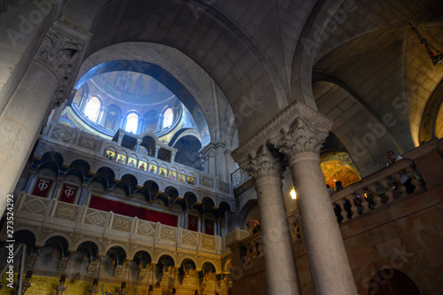 Photo Dome of the church of the holy sepulchre in Jerusalem