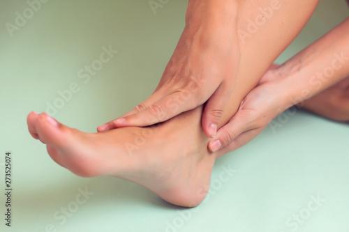 Fotografia, Obraz  Woman feels strong foot pain isolated