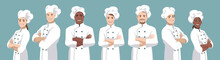Set Of Chefs. European And Afr...