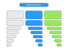 Message Chat Bubbles Vector Icons For Messenger. Template For Message Chat. Vector Illustration.