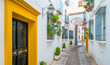 Leinwanddruck Bild - Scenic sight in the picturesque Cordoba jewish quarter. Andalusia, Spain.