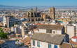 Panoramic sight in Granada with the Cathedral in a sunny morning. Andalusia, Spain.