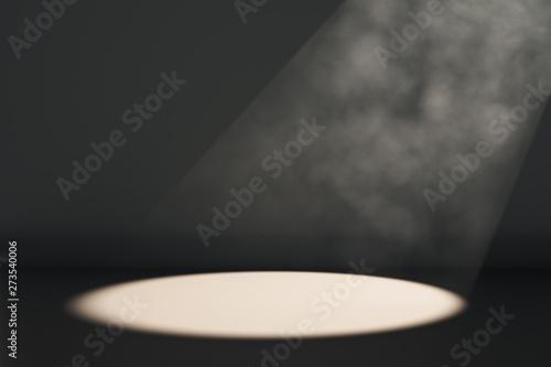 Canvastavla  Spot light on black background