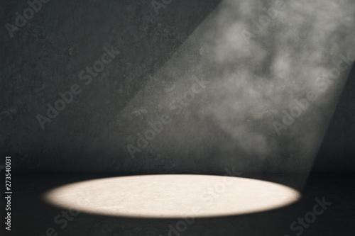 Canvastavla  Spot light on dark background