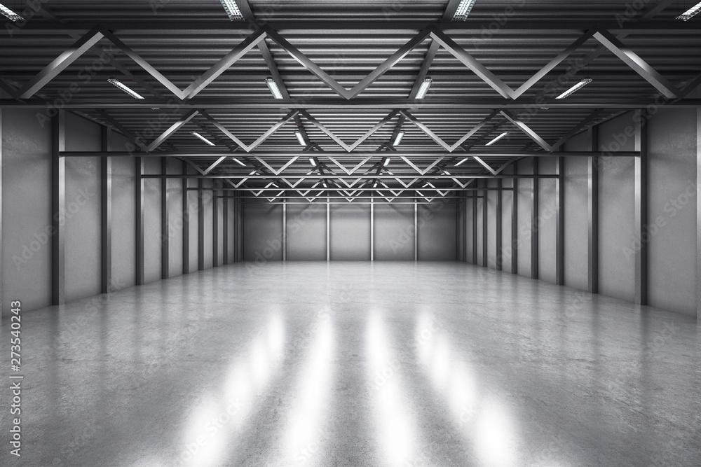 Fototapety, obrazy: Abstract warehouse interior