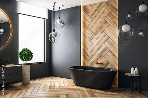 Tableau sur Toile Luxury bathroom with copyspace