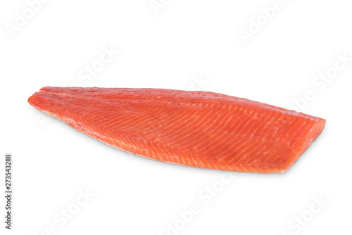 red fish fillet on white background Fototapet