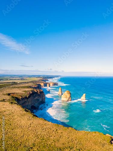 Fotografia  Twelve Apostles aerial view on the Great Ocean Road