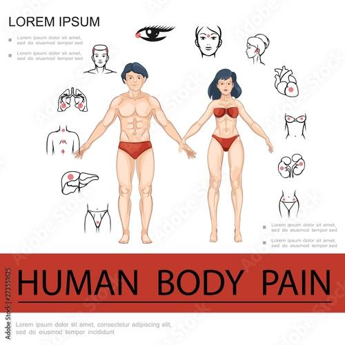 Fototapeta Cartoon Medical Concept obraz na płótnie