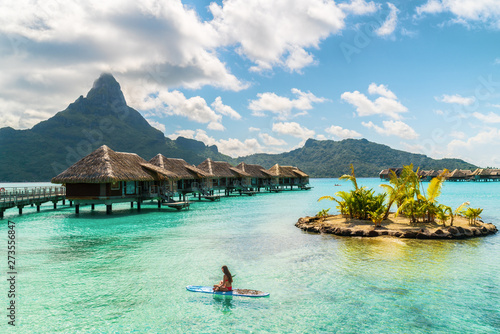Fotografie, Obraz Tahiti luxury resort hotel in Bora Bora ,French Polynesia