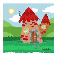 Fantasy Gnome House Vector Cartoon Fairy Treehouse And Magic Housing Village Illustration Set Of Kids Gnome Fairytale Pumpkin Or Stone Playhouse For Gnome Background