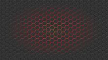 Glowing Hexagon Background. Ve...