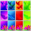 Vector Abstarct design background. Modern bacground template set collection