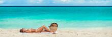 Beach Vacation Suntan Woman Ba...