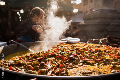 Obraz na płótnie paella spanish traditional food Valencia