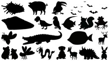 Set Of Silhouette Character
