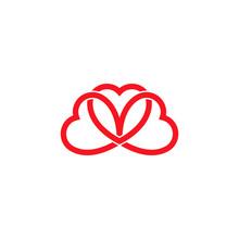 Three Heart Design Vector