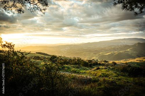 Fototapeta Fim de tarde do alto da montanha  obraz