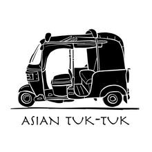 Tuktuk, Motorbike Asian Taxi. ...